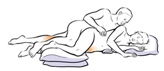 Side-lying sex position.
